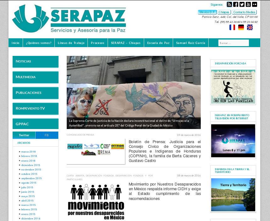 Servicios y Asesoría para la Paz - SERAPAZ